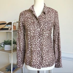 Diane Von Furstenberg animal print silk blend top